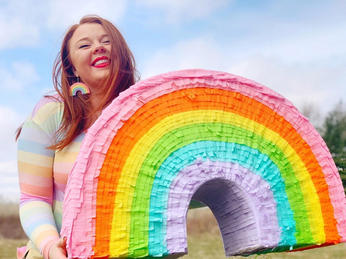 DIY Rainbow Piñata